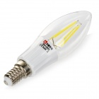 LeXing Lighting E14 4W 6500K 320lm 4-COB White Lamp (85~265V)