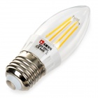 Lexing E27 4W 4-COB Warm White Light LED Candle Bulb (85~265V)
