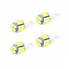 JIAWEN T10 2.5W 6500K 80lm SMD 3528 White Car Lamp (DC 12V / 4PCS)