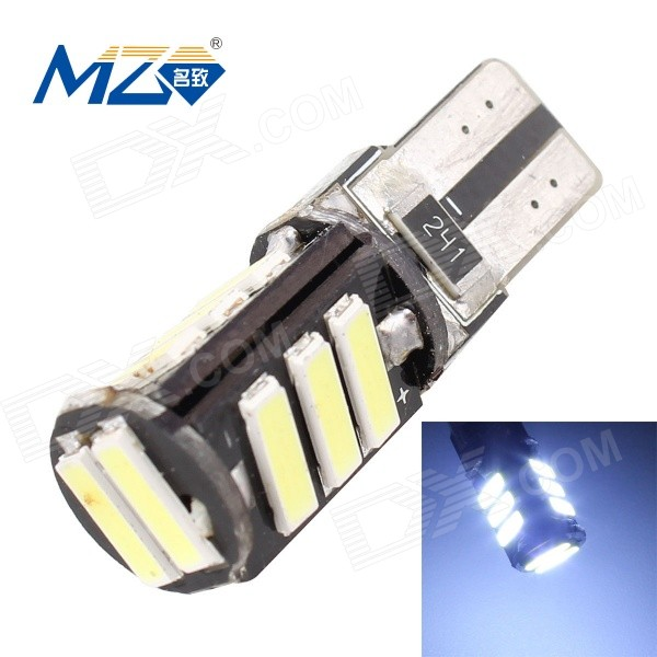 MZ T10 5.5W Error-Free 11-LED Car Clearance Lamp / License Plate LightTail Lights<br>Color BINWhiteModelT10-7020-11SMDQuantity1 DX.PCM.Model.AttributeModel.UnitMaterialPCBForm  ColorBlackEmitter TypeOthers,7020 SMD LEDChip BrandOthers,7020 SMD LEDChip Type7020 SMD LEDTotal EmittersOthers,11PowerOthers,5.5WColor Temperature6500 DX.PCM.Model.AttributeModel.UnitTheoretical Lumens715 DX.PCM.Model.AttributeModel.UnitActual Lumens660 DX.PCM.Model.AttributeModel.UnitRate Voltage12VWaterproof FunctionNoConnector TypeT10ApplicationLicense plate light,Clearance lampPacking List1 x LED Bulb<br>
