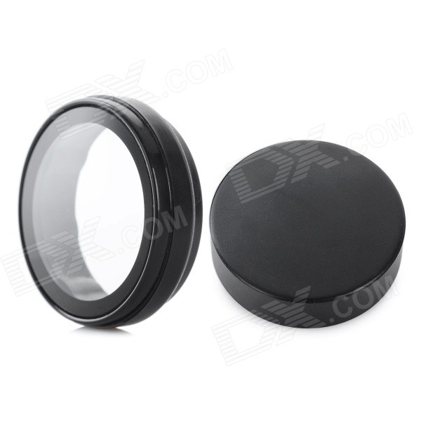 UV Filter Lens + Lens Cover Set for Xiaomi Xiaoyi Camera - Black