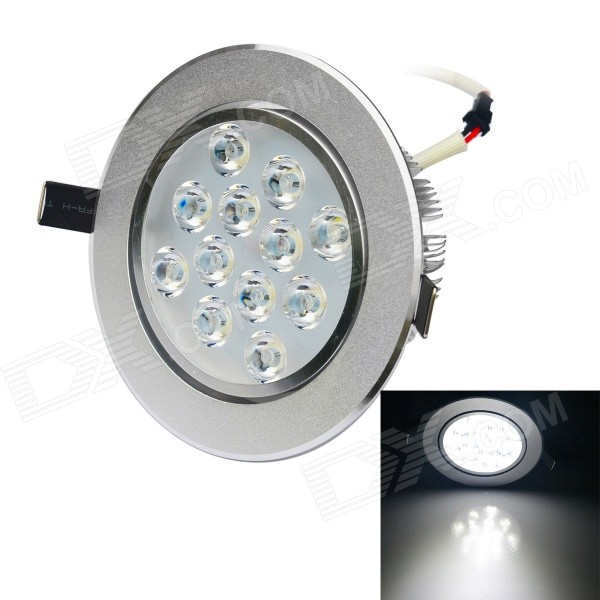 JIAWEN 12W LED Ceiling Lamp White Light 6500K 1200lm (100240V) Silver
