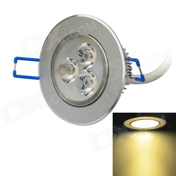 JIAWEN 3W 3200K 300lm Warm White Ceiling Lamp (100~240V)Ceiling Light<br>Form  ColorSilverColor BINWarm WhiteModelC-3W-003-WWQuantity1 DX.PCM.Model.AttributeModel.UnitMaterialAluminumPower3WRated VoltageAC 100-240 DX.PCM.Model.AttributeModel.UnitEmitter TypeLEDTotal Emitters3Theoretical Lumens270~300 DX.PCM.Model.AttributeModel.UnitActual Lumens270~300 DX.PCM.Model.AttributeModel.UnitColor Temperature12000K,Others,3000~3200KDimmableNoBeam Angle160 DX.PCM.Model.AttributeModel.UnitExternal Diameter8.3 DX.PCM.Model.AttributeModel.UnitHole diameter7.3 DX.PCM.Model.AttributeModel.UnitHeight3.5 DX.PCM.Model.AttributeModel.UnitOther FeaturesDriver input / output wire: 10 cm / 10cm.Packing List1 x LED ceiling light w/ external driver<br>