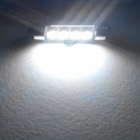 JIAWEN Festoon 42mm 0.8W 6500K 70lm 4-5050 SMD White Car Lamp (DC 12V)
