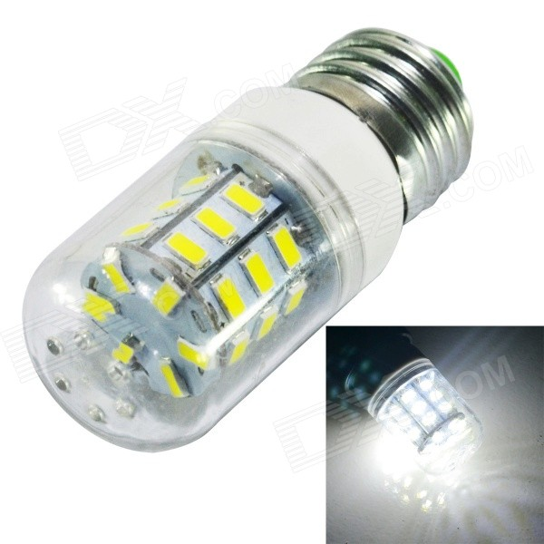 Buy JIAWEN E27 6W 600lm 6500K White 30-LED Corn Lamp Bulb - White (220V) with Litecoins with Free Shipping on Gipsybee.com