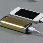 Rechargeable 5800mAh Power Bank Electronic Lighter - Golden + Silver