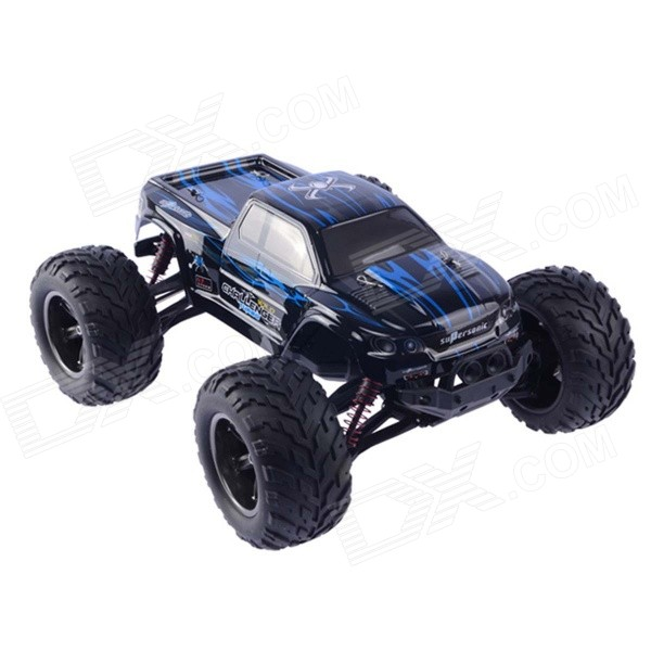 Buy 1:12 40KMH Car RTR 2.4GHz RC Monster Truck - Blue + Black with Litecoins with Free Shipping on Gipsybee.com