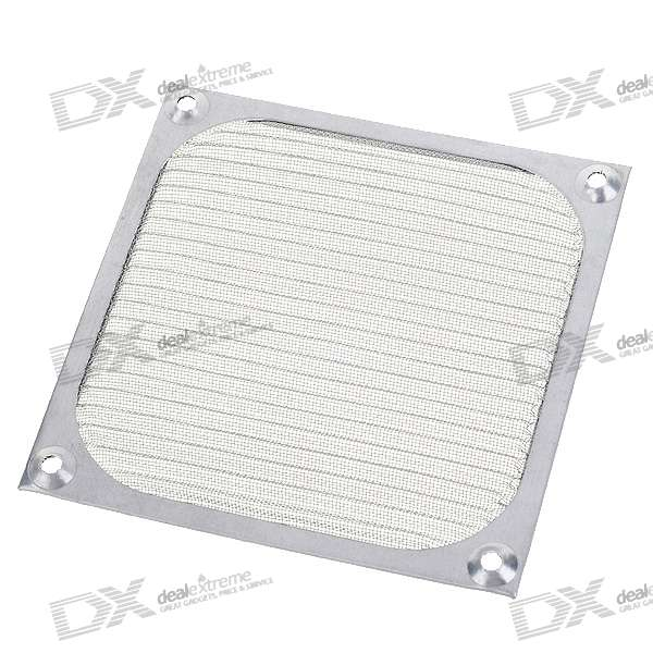 Aluminum Computer Case Fan Dust Guard Grill Protector -Silver (12cm)