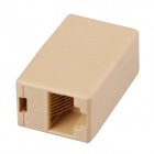 RJ45 Network Cable Extension Coupler Connector - Beige (100PCS)