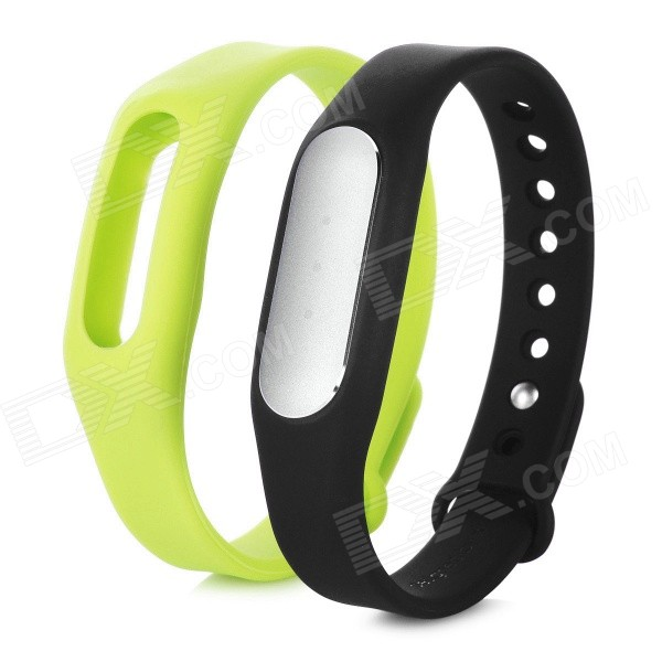 Xiaomi Waterproof Sports Smart Bluetooth V4.0 Bracelet - Black + Green