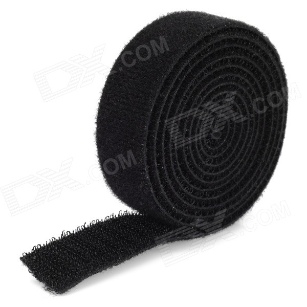 Dual Side Self-Stick Nylon Velcro Tapes - Black (1.2m)Cable Management<br>Form  ColorBlackQuantity1 DX.PCM.Model.AttributeModel.UnitShade Of ColorBlackMaterialNylonPacking List1 x Velcro tape<br>