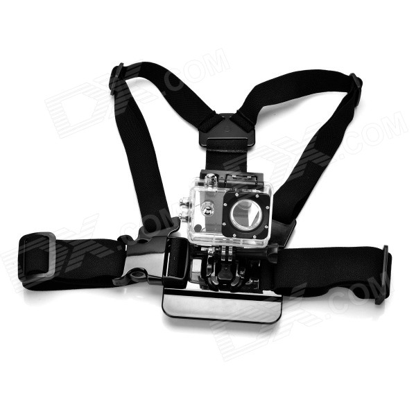 Sports Fixing Chest / Shoulder Belt for GoPro Hero 4, 3+, 3, 2 - Black