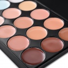 Cosmetics 15-Color Foundation Primer Makeup Plate - Multicolored
