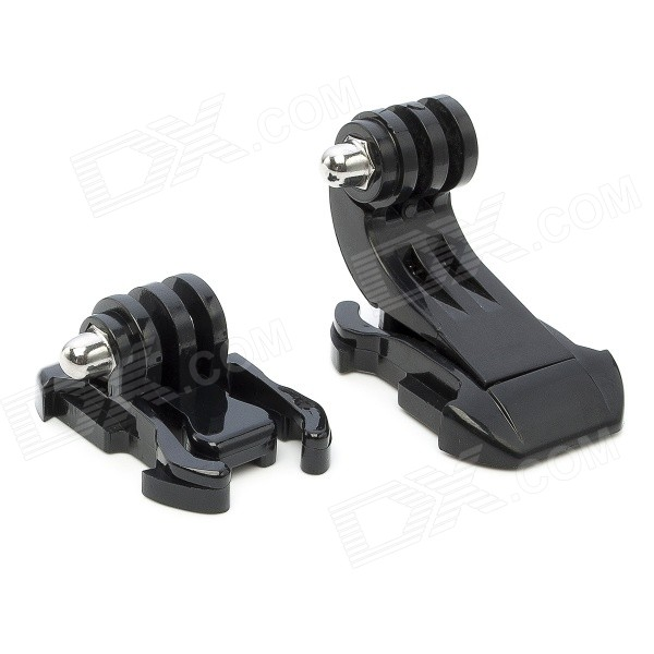Base Mount Holder + J-Shaped Hook Set for GoPro,SJ4000, SJ5000 - Black