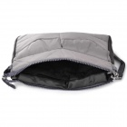 Thickened Double-Zippered Nylon Handbag Pouch - Grey
