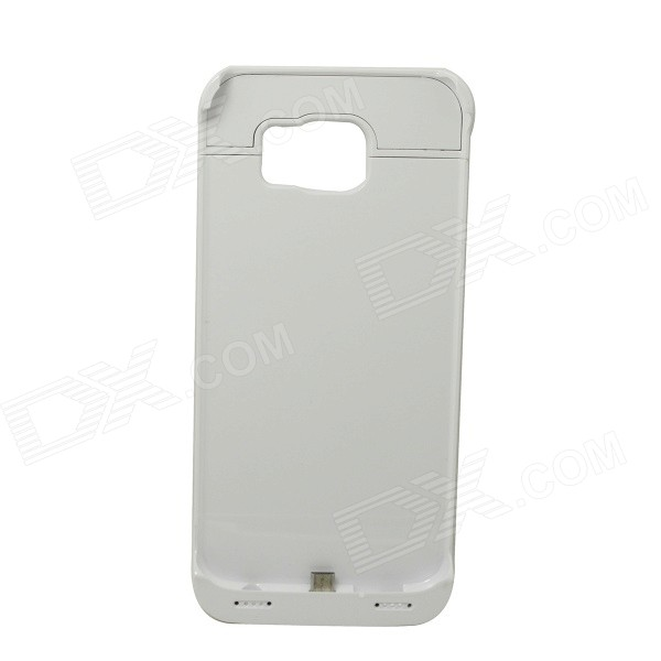 4200mAh Battery Charger Power Back Case w/ LED for Samsung S6 - White