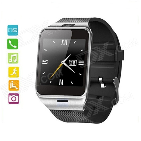 "APLUS 1,54 ""GSM Smart Phone Watch m / 64 MB RAM, NFC - Svart + Sølv"