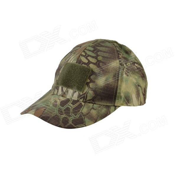 Buy Python Pattern 600D Oxford Baseball Hat - Green Camouflage with Litecoins with Free Shipping on Gipsybee.com