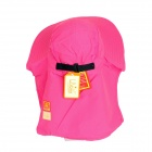 360 Degrees Sun Blocking UV Care Hiking Fishing Hat Cap - Deep Pink