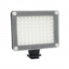 8W 480lm White / Yellow Filter 80-LED Video Camera Light - Black