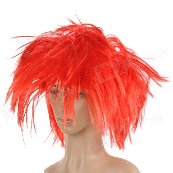 Buy Stylish Hair Decorative Fiber Messy Short Wig - Red with Litecoins with Free Shipping on Gipsybee.com