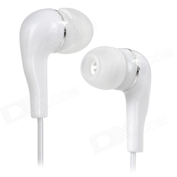 3.5mm In-Ear Earphone - WhiteHeadphones<br>Form  ColorWhiteMaterialSilicone + PCQuantity1 DX.PCM.Model.AttributeModel.UnitShade Of ColorWhiteHeadphone StyleIn-EarConnection3.5mm WiredCable Length110 DX.PCM.Model.AttributeModel.UnitSNR75~90dBSensitivity112 +/- 3dBTHDRemoteNoWith MicrophoneNoDriver Unit2Frequency Response20Hz~20KHzImpedance4 DX.PCM.Model.AttributeModel.UnitChannels2.0Connector3.5mmLeft &amp; Right Cables TypeEqual LengthVolume ControlNoPacking List1 x Earphone<br>