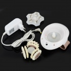 Handheld 4.5W Electric 3-Head Body Rolling Massaging - Brown + White