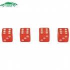 CARKING CS155 Car Cube Dice Style Tire Valve Caps - Red (4PCS)