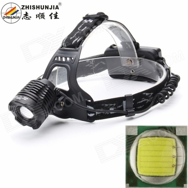 ZHISHUNJIA K12T6 900lm 3-Mode White Light Zooming Headlamp HeadlightHeadlamps<br>Form  ColorBlackModelK12T6Quantity1 DX.PCM.Model.AttributeModel.UnitMaterialAluminum alloyEmitter BrandOthers,N/ALED TypeXM-LEmitter BINT6Color BINNeutral WhiteNumber of Emitters1Working Voltage   3.7 DX.PCM.Model.AttributeModel.UnitPower Supply2 x 18650 batteries (not included)Current2.8 DX.PCM.Model.AttributeModel.UnitTheoretical Lumens1000 DX.PCM.Model.AttributeModel.UnitActual Lumens900 DX.PCM.Model.AttributeModel.UnitRuntime3 DX.PCM.Model.AttributeModel.UnitNumber of Modes3Mode ArrangementHi,Low,Fast StrobeMode MemoryYesSwitch TypeForward clickySwitch LocationTailcapLensPlasticReflectorNoBand Length70 DX.PCM.Model.AttributeModel.UnitCompatible Circumference15~40cmBeam Range200 DX.PCM.Model.AttributeModel.UnitPacking List1 x Headlamp<br>
