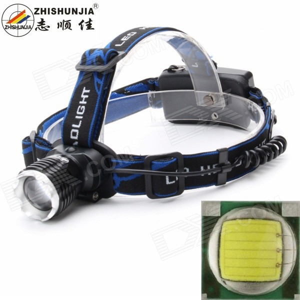 ZHISHUNJIA 31T6 LED 900lm 3-Mode White Light Zooming Headlamp - Black