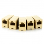 RJ45 Network Female Connector Adapters - Yellow (5PCS)