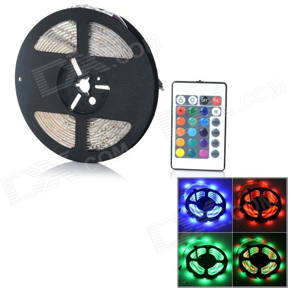 24W 3528 SMD 950lm RGB Light Strip + Controller (5m / DC 12V)