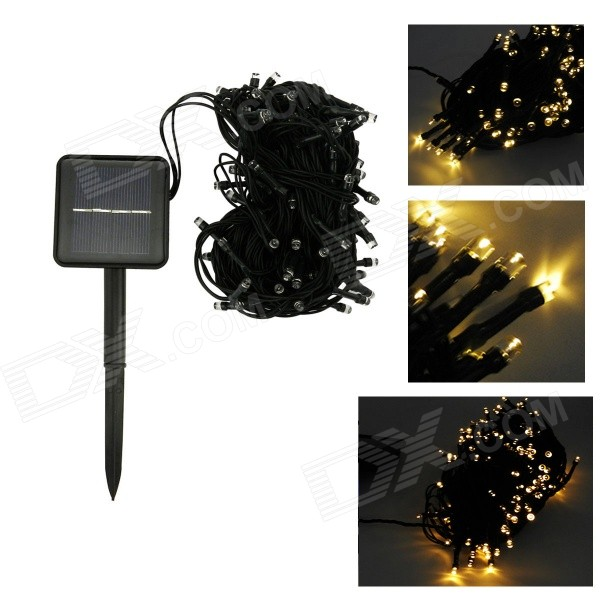 Buy IN-Color IN-100 2W Solar Powered Warm White Light 100-LED String Light with Litecoins with Free Shipping on Gipsybee.com