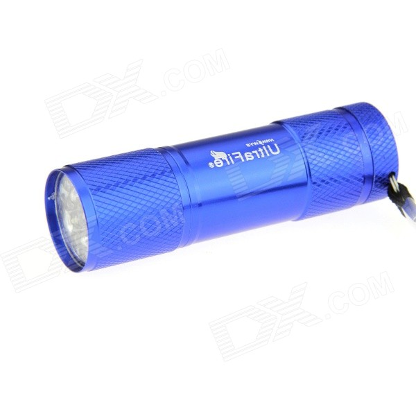 Ultrafire 9-LED 80lm White Light LED Flashlight Torch - Blue (3*AAA)