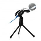 SF-922B USB Wired Desktop Microphone w/ Tripod - Black (130cm-Cable)