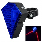 Bicycle LED Blue Light + Red Laser 6-Mode Alarm Tail Light - Blue