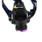 Ultrafire T6 LED 3-Mode 900lm White Zoomable Headlamp - Black + Purple