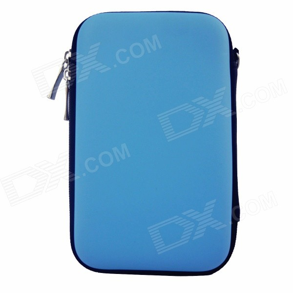 Hard Shell PU + EVA Pouch for 2.5 Hard Disk / Power Bank - BlueBags and Pouches<br>Form  ColorBlueModelTM1301Quantity1 DX.PCM.Model.AttributeModel.UnitShade Of ColorBlueMaterialPU + EVACompatible SizeOthers,2.5 inchTypeSleeves,Tote BagsPacking List1 x Bag<br>