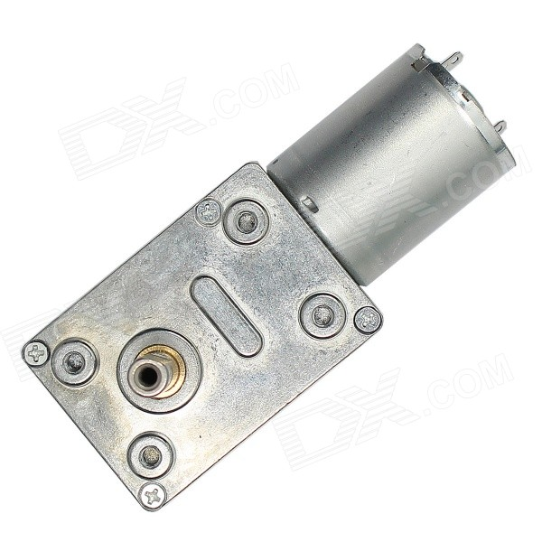 DC12V 19RPM Square Type DC Motor with Worm Gear Torque LockingDIY Parts &amp; Components<br>Model4637-370-15300-337Quantity1 DX.PCM.Model.AttributeModel.UnitForm  ColorSilverMaterialABS+ copper + iron + steelChipsetDC driveEnglish Manual / SpecNoCertificationN/APacking List1 x Gear motor<br>