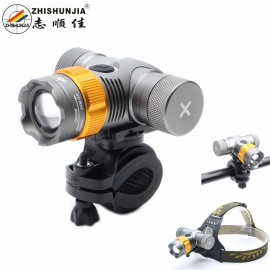 ZHISHUNJIA-688-T6-LED-360-Rotation-3-Mode-Zooming-Bike-Light