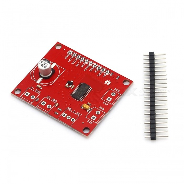 3A 8~45V Stepper Driver Breakout Module - Red