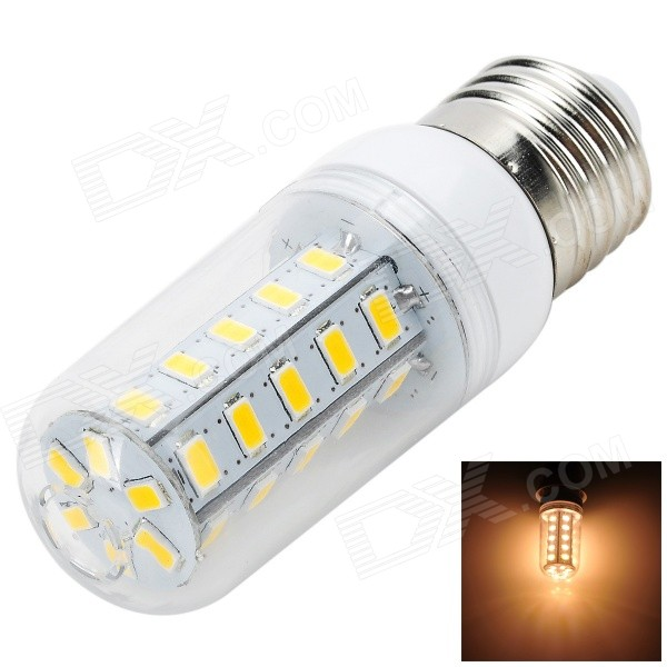 E27 7W LED Corn Lamp Warm White 3000K 700lm SMD 5730 (AC 220~240V)E27<br>Form  ColorWhite + Yellow + Multi-ColoredColor BINWarm WhiteMaterialAluminum + plasticQuantity1 DX.PCM.Model.AttributeModel.UnitPower7WRated VoltageAC 220-240 DX.PCM.Model.AttributeModel.UnitConnector TypeE27Emitter TypeOthers,5730 SMDTotal Emitters36Actual Lumens600~700 DX.PCM.Model.AttributeModel.UnitColor Temperature3000KDimmableNoBeam Angle360 DX.PCM.Model.AttributeModel.UnitCertificationCE, RoHSPacking List1 x LED bulb<br>