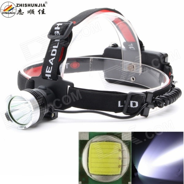 Buy ZHISHUNJIA XM-L2 T6 LED 900lm 3-Mode White Headlamp - Black + Silver with Litecoins with Free Shipping on Gipsybee.com