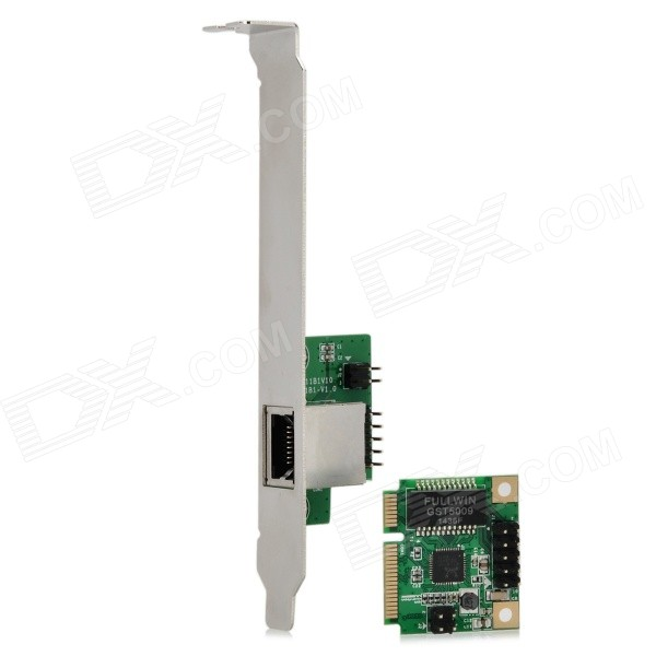 IOCREST-SI-MPE24043-Mini-PCI-Express-Gigabit-Ethernet-Adapter-Green