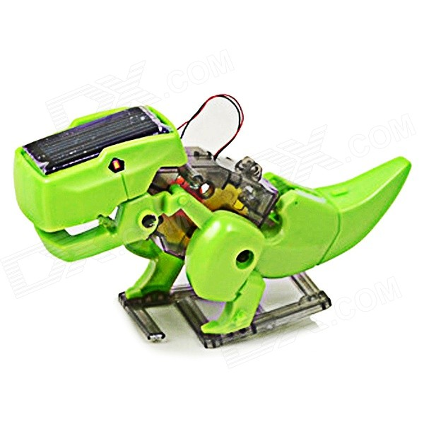 Educational DIY Solar Power Driven Robot Toy Assembly Kit - Green