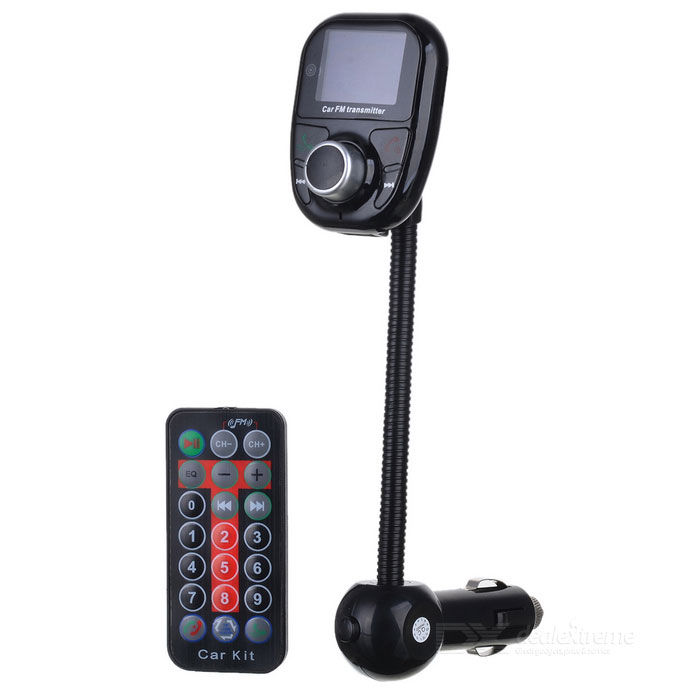 S-What Car Cigarette Lighter Bluetooth MP3 / FM Transmitter - Black