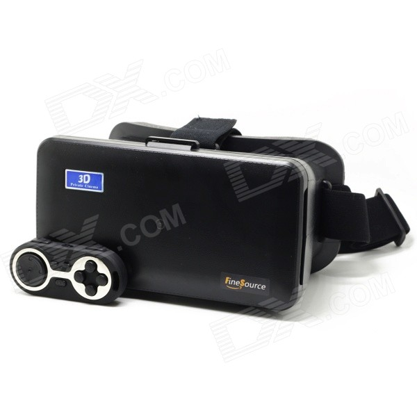 "FineSource Virtual Reality 3D Video Glasses for 5.5~6.3"" Phone - Black"