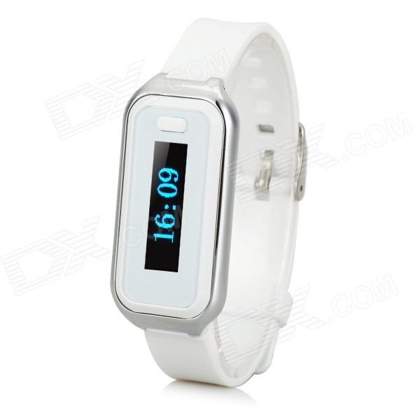 "M06 0.91"" Screen Bluetooth V4.0 Smart Bracelet - White"