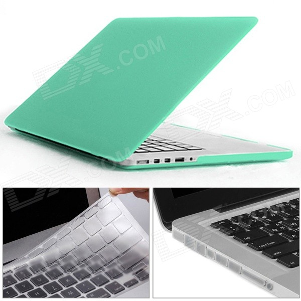 Mr.northjoe 3-in-1 for RETINA MACBOOK PRO 13.3 - GreenNetbook&amp;Laptop Cases<br>Form ColorGreenQuantity1 DX.PCM.Model.AttributeModel.UnitShade Of ColorGreenMaterialPCCompatible ModelMACBOOK PRO 13.3 with Retina DisplayCompatible BrandAPPLETypeFull Body CasesStyleBusiness,Casual,Fashion,ContemporaryCompatible Size13.3 inchPacking List1 x Hard case (top + bottom)1 x Keyboard cover (TPU Transparent)12 x Anti-dust silicone plugs (Transparent)<br>