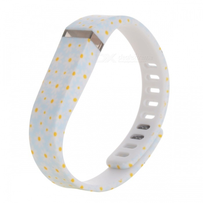 Buy TPE+TPU Wrist Band w/ Clasp for Fitbit Flex - White + Light Blue with Litecoins with Free Shipping on Gipsybee.com